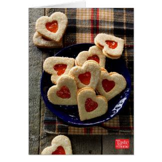 Galletas del coco del amor tarjeta pequeña