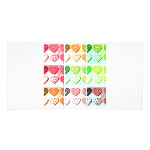 Galletas del corazón de la tarjeta del día de San  Plantilla Para Tarjeta De Foto