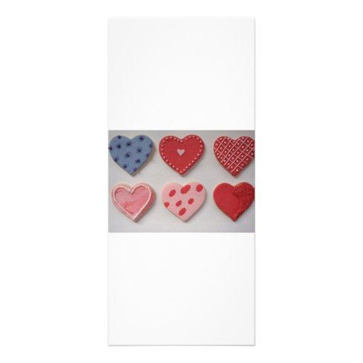 Galletas del corazón de la tarjeta del día de San  Tarjetas Publicitarias A Todo Color