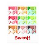 Galletas del el día de San Valentín Tarjetas Postales