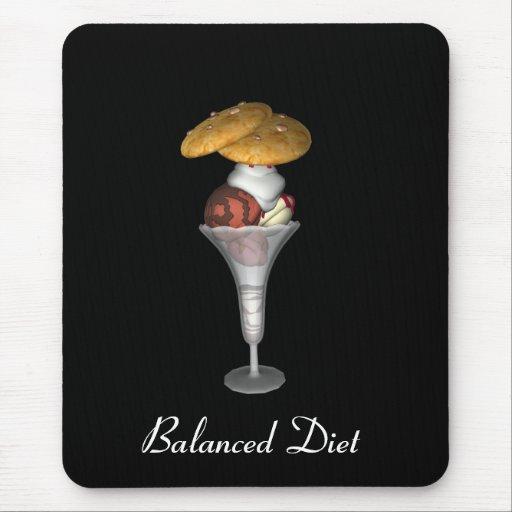 Galletas del helado de la dieta equilibrada de Mou Tapete De Ratón