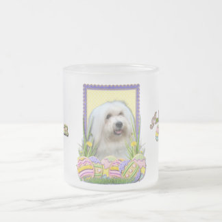 Galletas del huevo de Pascua - algodón de Tulear Taza De Cristal