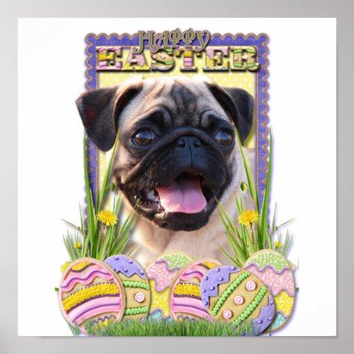 Galletas del huevo de Pascua - barro amasado Poster