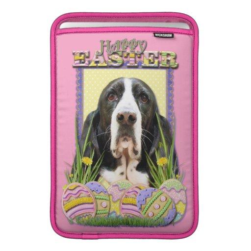 Galletas del huevo de Pascua - Basset Hound - jazm Funda MacBook