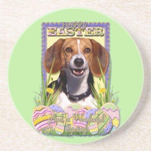 Galletas del huevo de Pascua - beagle Posavaso Para Bebida