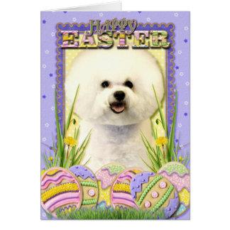 Galletas del huevo de Pascua - Bichon Frise Felicitaciones