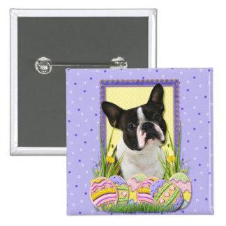 Galletas del huevo de Pascua - Boston Terrier Pin
