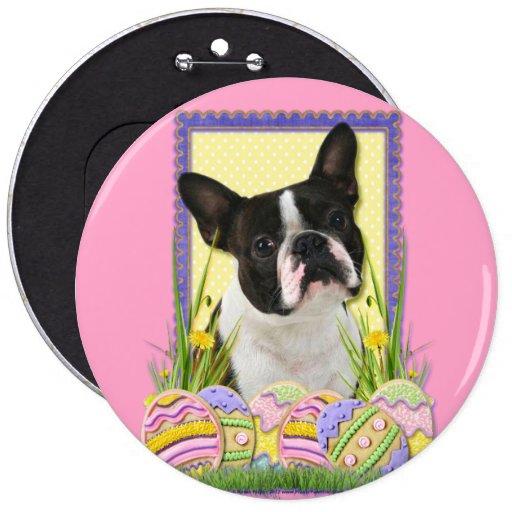 Galletas del huevo de Pascua - Boston Terrier Pin Redondo 15 Cm