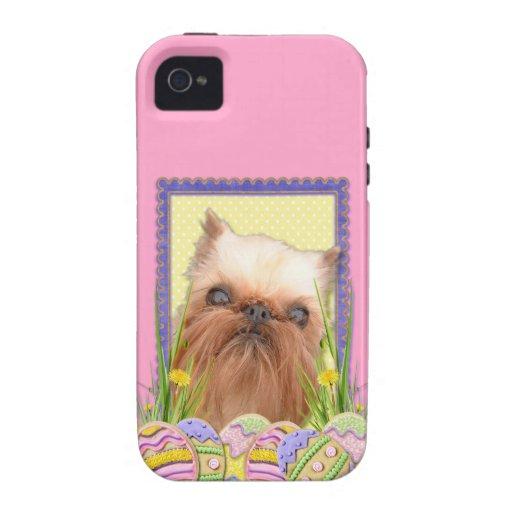 Galletas del huevo de Pascua - Bruselas Griffon Vibe iPhone 4 Carcasas