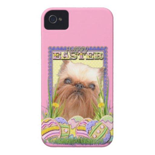 Galletas del huevo de Pascua - Bruselas Griffon Case-Mate iPhone 4 Protectores