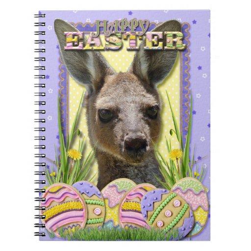 Galletas del huevo de Pascua - canguro Cuaderno
