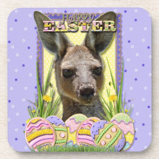 Galletas del huevo de Pascua - canguro Posavasos De Bebidas
