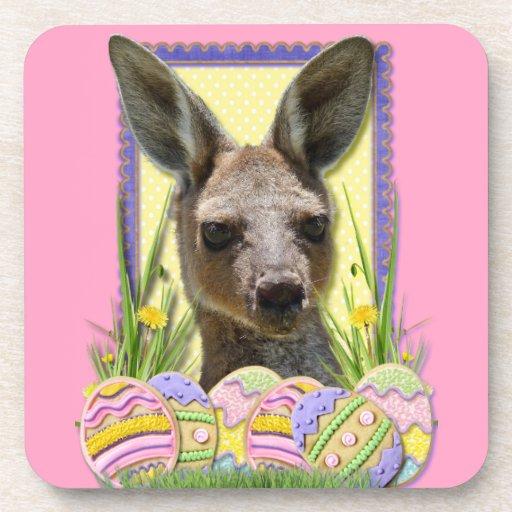 Galletas del huevo de Pascua - canguro Posavasos