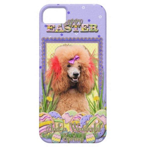 Galletas del huevo de Pascua - caniche - rojo Funda Para iPhone SE/5/5s