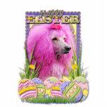 Galletas del huevo de Pascua - caniche - rosa Escultura Fotografica