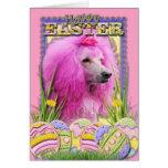 Galletas del huevo de Pascua - caniche - rosa Felicitaciones