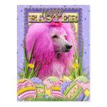 Galletas del huevo de Pascua - caniche - rosa Postal