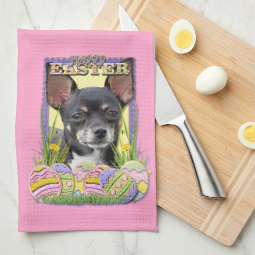 Galletas del huevo de Pascua - chihuahua Toallas De Cocina