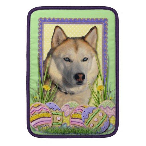 Galletas del huevo de Pascua - cobre del husky sib Fundas MacBook