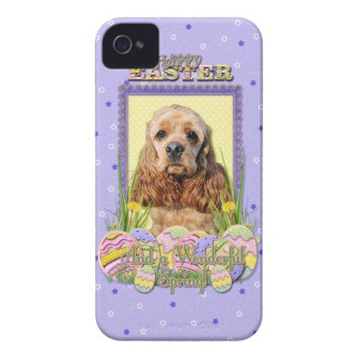 Galletas del huevo de Pascua - cocker spaniel iPhone 4 Protector