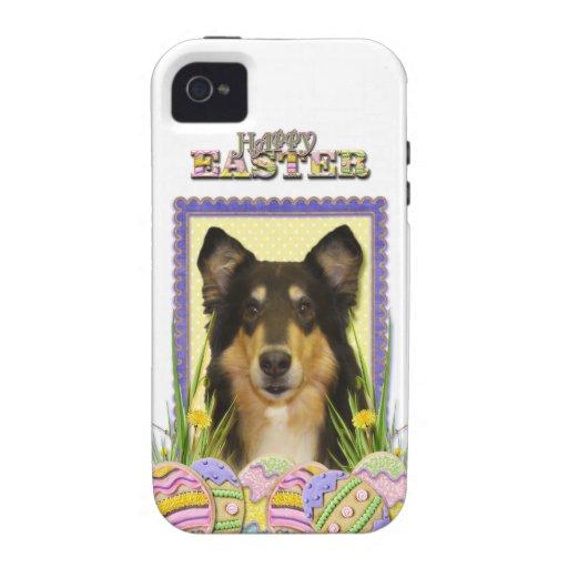 Galletas del huevo de Pascua - collie iPhone 4 Carcasas