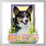 Galletas del huevo de Pascua - Corgi Posters