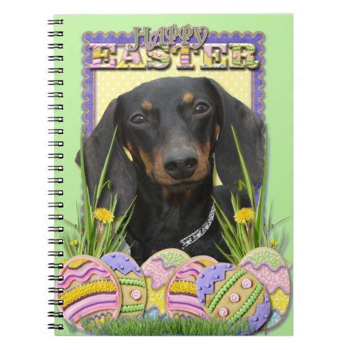 Galletas del huevo de Pascua - Dachshund Cuadernos