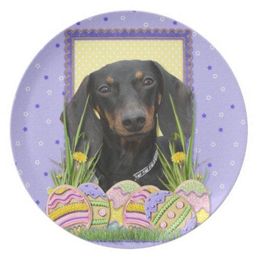 Galletas del huevo de Pascua - Dachshund Plato Para Fiesta