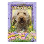 Galletas del huevo de Pascua - GoldenDoodle Tarjeta
