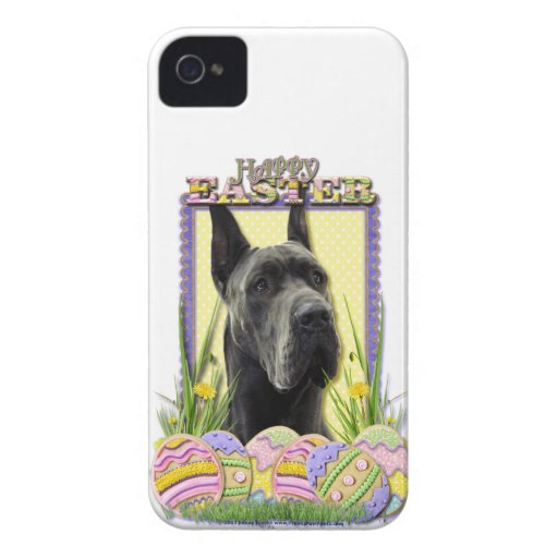 Galletas del huevo de Pascua - great dane - gris iPhone 4 Cobertura
