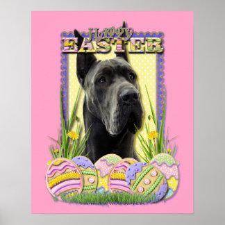 Galletas del huevo de Pascua - great dane - gris Posters