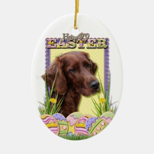 Galletas del huevo de Pascua - Irish Setter Ornamentos De Reyes