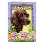 Galletas del huevo de Pascua - Irish Setter Tarjetas