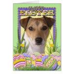 Galletas del huevo de Pascua - Jack Russell Felicitación