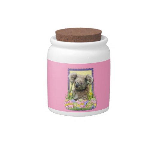 Galletas del huevo de Pascua - koala Jarra Para Caramelo