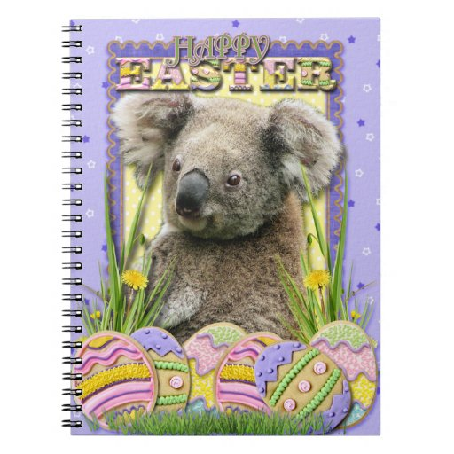 Galletas del huevo de Pascua - koala Libretas Espirales