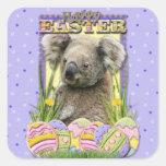 Galletas del huevo de Pascua - koala Pegatina Cuadrada
