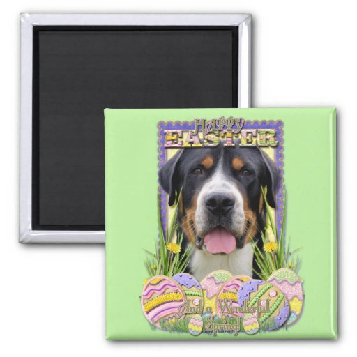 Galletas del huevo de Pascua - mayor perro suizo d Imán Para Frigorífico