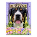Galletas del huevo de Pascua - mayor perro suizo Postal