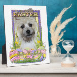 Galletas del huevo de Pascua - mojón Terrier Placas Para Mostrar