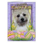 Galletas del huevo de Pascua - mojón Terrier Tarjetón