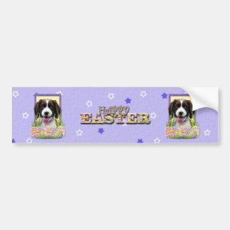 Galletas del huevo de Pascua - perro de aguas de s Etiqueta De Parachoque