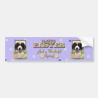 Galletas del huevo de Pascua - perro de aguas de s Pegatina De Parachoque