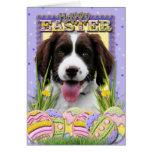 Galletas del huevo de Pascua - perro de aguas de s Tarjetas