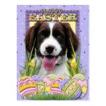 Galletas del huevo de Pascua - perro de aguas de Postal