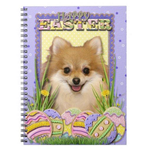 Galletas del huevo de Pascua - Pomeranian Libro De Apuntes