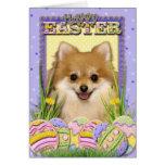 Galletas del huevo de Pascua - Pomeranian Tarjeta
