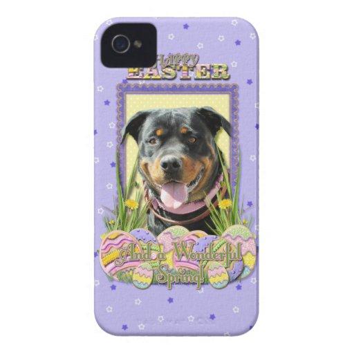Galletas del huevo de Pascua - Rottweiler Case-Mate iPhone 4 Cárcasas