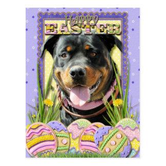 Galletas del huevo de Pascua - Rottweiler Postales