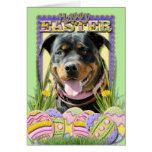 Galletas del huevo de Pascua - Rottweiler Tarjeta De Felicitación